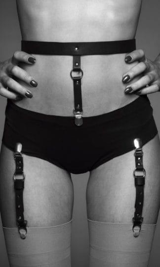 Bijoux Indiscrets - MAZE Suspender Belt for Underwear & Stockings Brown