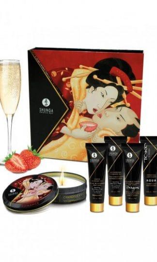 Shunga - Sparkling Strawberry Wine (zestaw)